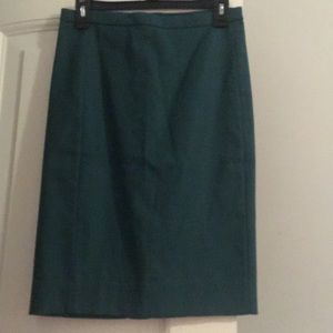 JCrew Green Pencil Skirt 0
